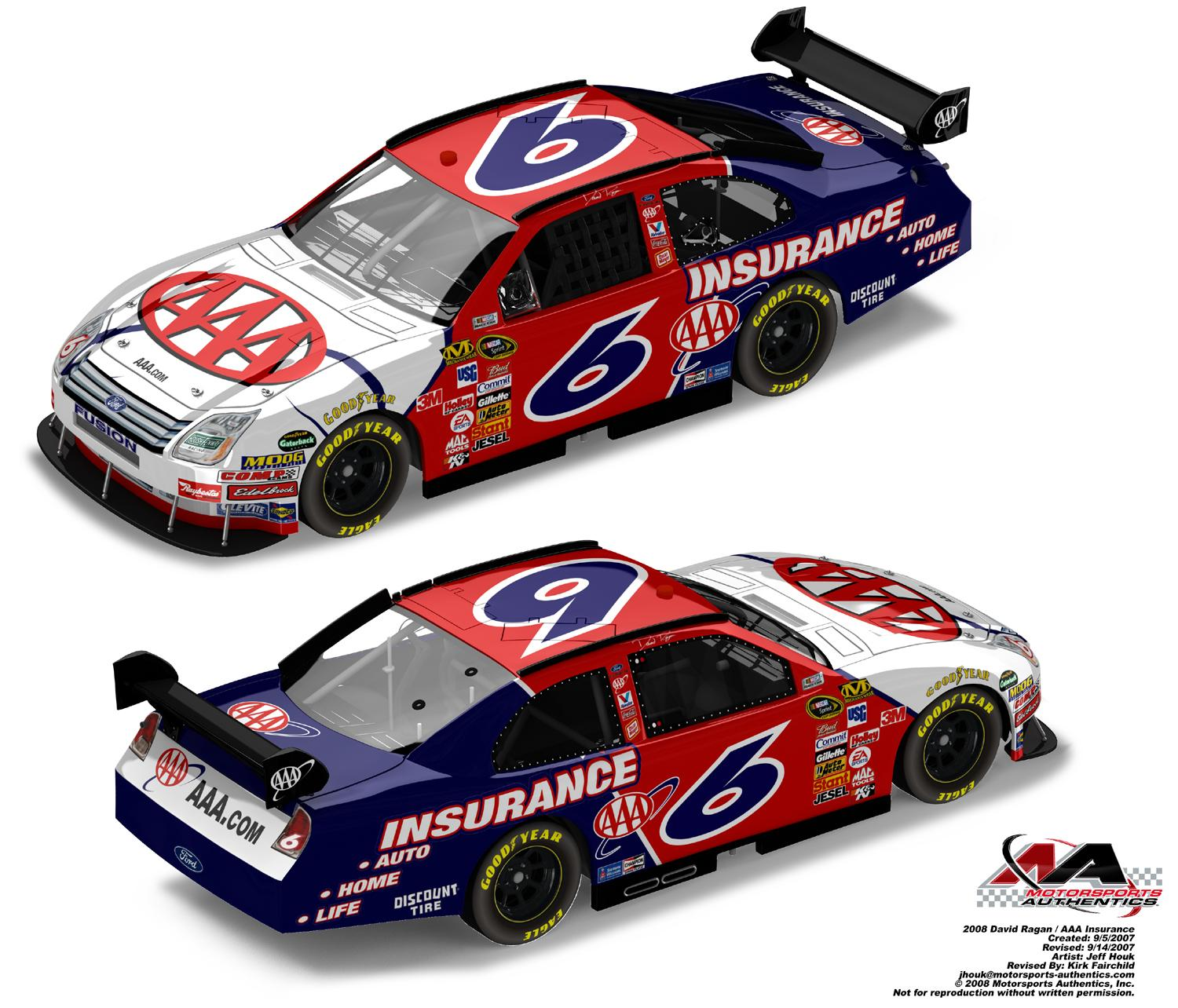 Aaa Insurance Ma >> 2008 David Ragan Aaa Insurance Ma Ds Lionel Garage